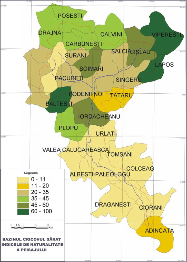 <b>Landscape naturalness index</b>